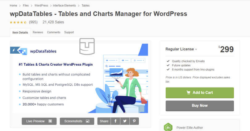 WP Data Table v3.4.1 - Best Tables & Charts Plugin